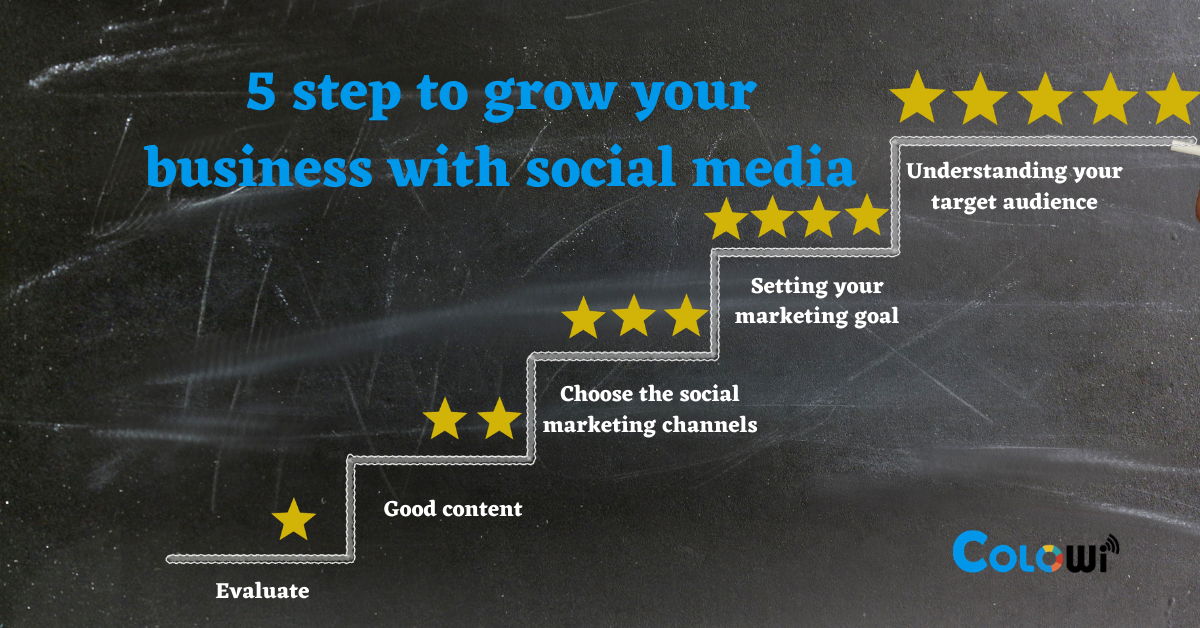 5 step to grow your business with social media
