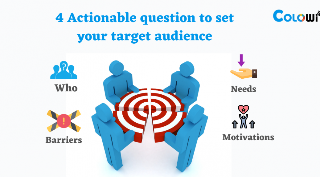 4 Actionable question to set your target audience